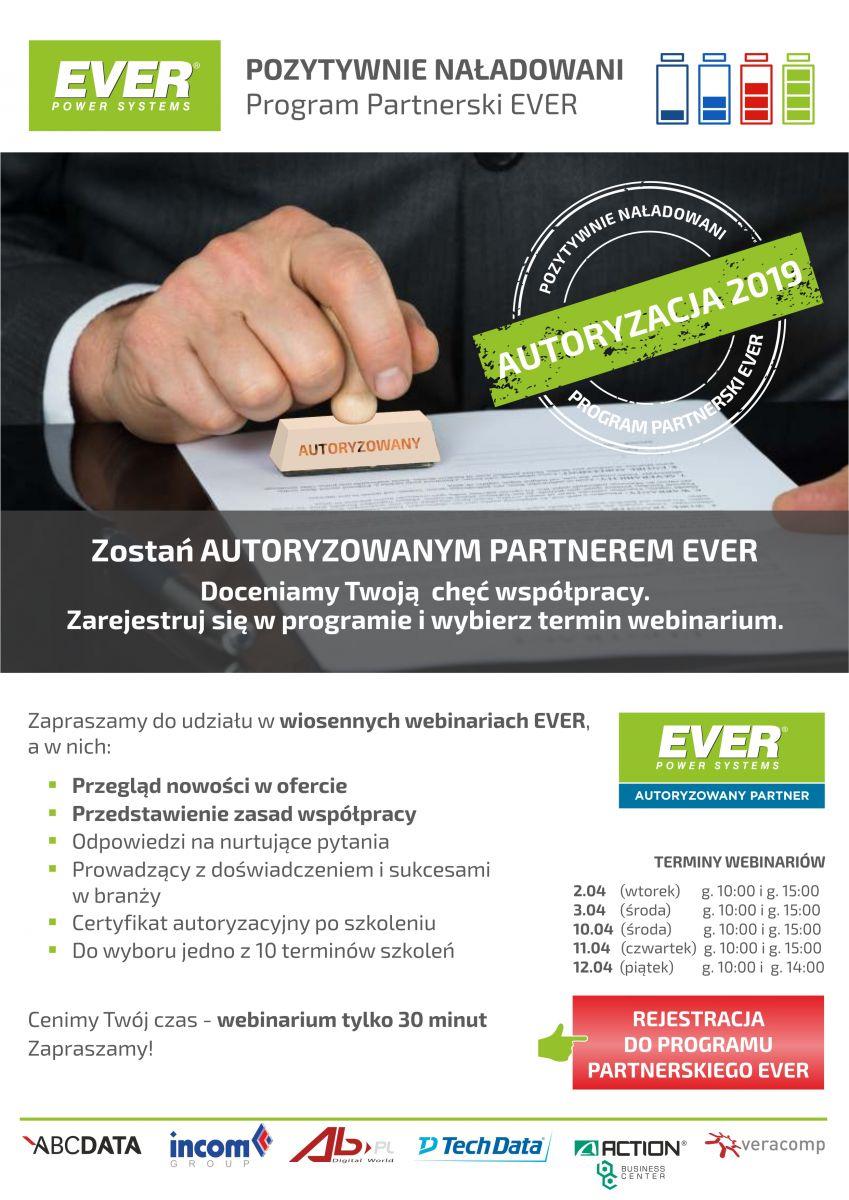 Program Partnerski EVER - Autoryzacja 2019